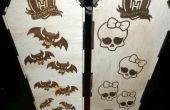 Laser Cut et gravée cercueil