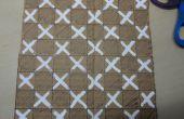Plateau de jeu d'échecs en carton
