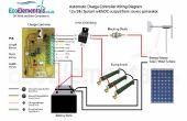 Schéma de câblage de contrôleur de charge pour bricolage éolienne ou panneaux solaires