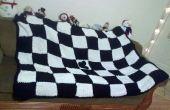 Noir et blanc Knitted Blanket
