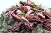 Calmar encre Risotto au calamar frit