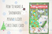 Comment faire une carte de Noël bonhomme de neige penny curseur
