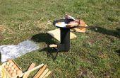 Camping fusée poêle