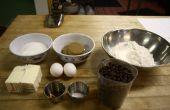 Recette de biscuits au chocolat rapide.