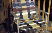 Remis à neuf pliante chaise de jardin avec des matériaux repurposed