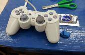 Sustituyendo la goma del Joystick de ONU contrôle de Playstation usando Sugru