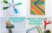 4 arrière facile à l'école de bricolage avec Washi Tape
