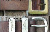 Comment rénover vieilles ceintures de cuir ou de faire une de toutes pièces