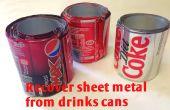 Récupérer la ferraille - recyclage des canettes de boissons