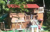 Bateau pirate Playhouse / Treehouse / Fort / balançoire / en difficulté avec la femme