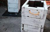 En bois jardinières de récupéré Decking