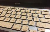 Touches de Macbook en bois (avec des fonctionnalités de rétro-éclairage)