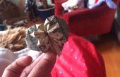 Coeur Origami avec un Dollar et un quart