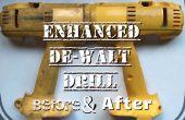 Enhanced DeWalt perceuse avant et après