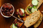 Tomates avec dates et chutney de piment vert