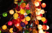 Idées pour l'utilisation de lumières de Noël pour égayer votre fête en plein air