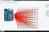 Charlieplexed Arduino 8 x 8 LED grille affichage bouclier fait et simulés dans les Circuits 123D