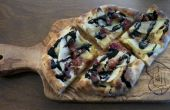 Bacon Brie poire pizzette