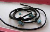 Bracelet avec perles et noeuds