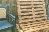 Anciennes palettes ou comment transformer un banc de jardin
