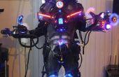 Costume d'Halloween de Cyborg cybernétique machine robotisée espèces exotiques Laser fumeur LED ! LEGIT
