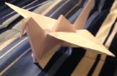 Origami grue de battement