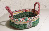 Panier de Pâques de sacs en plastique