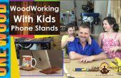 Projets de menuiserie pour les enfants | Faire un téléphone ou un support de tablette de bois d'Acacia aneura