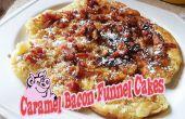Bacon au caramel Funnel Cakes