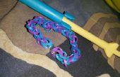 Chaîne de métier à tisser-Single arc-en-ciel à l'aide de mini métier à tisser