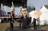 Création d'une marionnette géante de la reconstitution historique