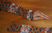 Comment tricoter des mitaines réfléchissant