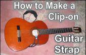 Velcro sur une sangle pour guitare acoustique.