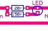 Chargeur de batterie Ni-cad simple avec indicateur Led