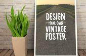 Concevoir une affiche d'inspiration Vintage