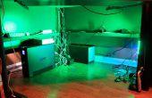 LED Undercabinet / sous l'éclairage de bureau avec variateur et télécommande sans fil