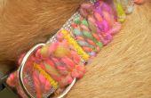 Collier de chien Appliqued en fils