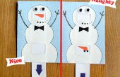 Bon ou méchant bonhomme de neige carte