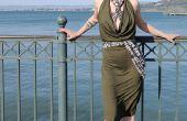 Cowl drapé robe Infinity
