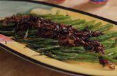 Asperges au balsamique oignons et Bacon