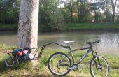 Remorque à vélo sur une seule roue