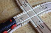 X-passage de voies de Train en bois personnalisé