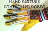 Robot de geste contrôlée de main avec son activé le système d'éclairage