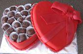 Gâteau au chocolat boîte Saint-Valentin