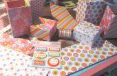 Boîte de scrapbooking papier compartiment secret