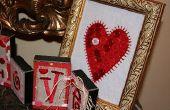 Coeur bouton cadre Valentin