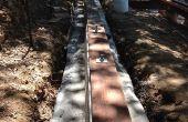 Astuce pour fixer les plaques de seuil de semelles de béton