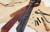 Cravates de cuir