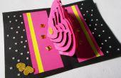 Carte de bricolage 3D Kirigami idées : Comment faire des cartes pop-up Love coeur