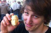 Impressions 3D réaliste têtes au chocolat